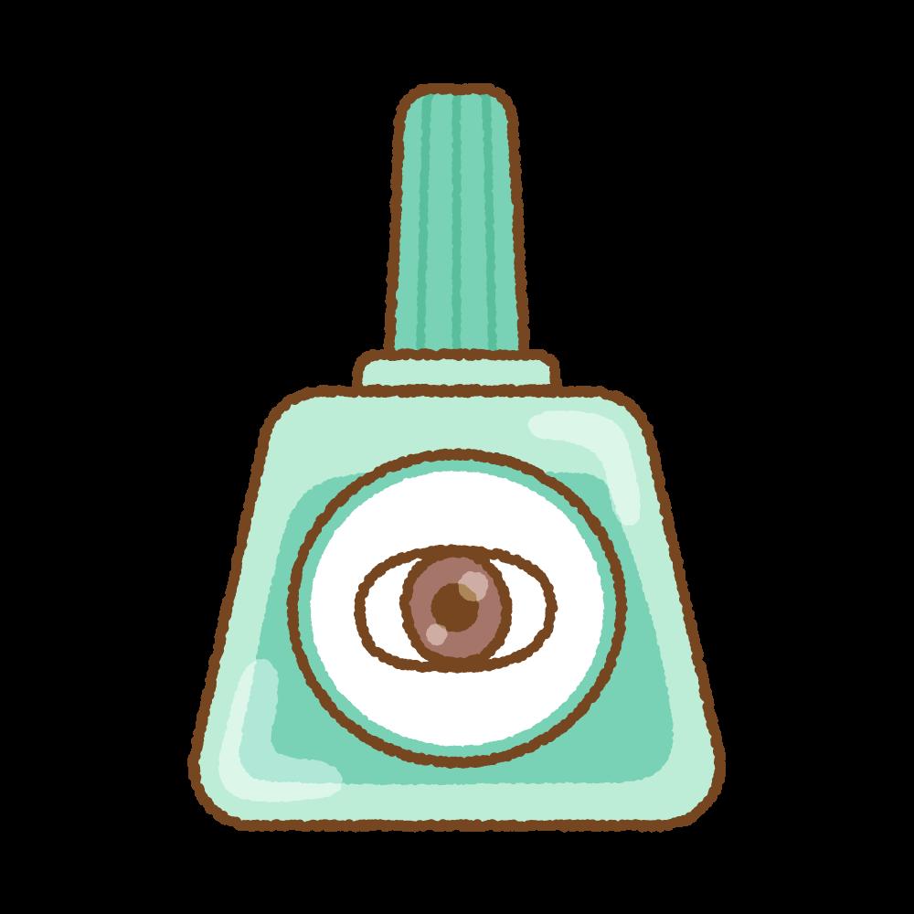 目薬のフリーイラスト Clip art of eye drops