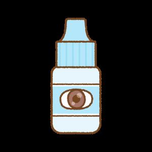 青い点眼薬のフリーイラスト Clip art of blue eye drop