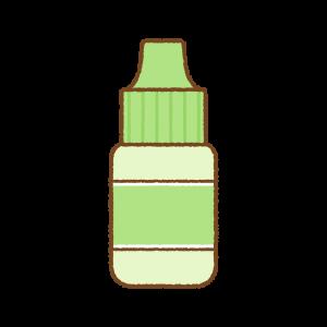 緑の点眼薬のフリーイラスト Clip art of green eye drop