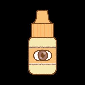 オレンジの点眼薬のフリーイラスト Clip art of orange eye drop