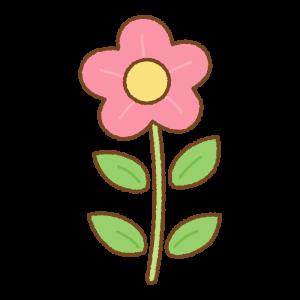 ピンクの花のフリーイラスト Clip art of pink flower