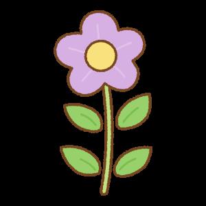 紫の花のフリーイラスト Clip art of purple flower