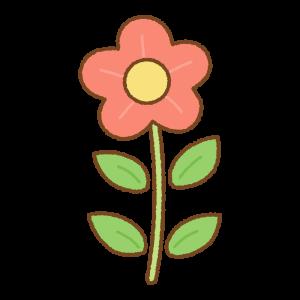 赤い花のフリーイラスト Clip art of red flower