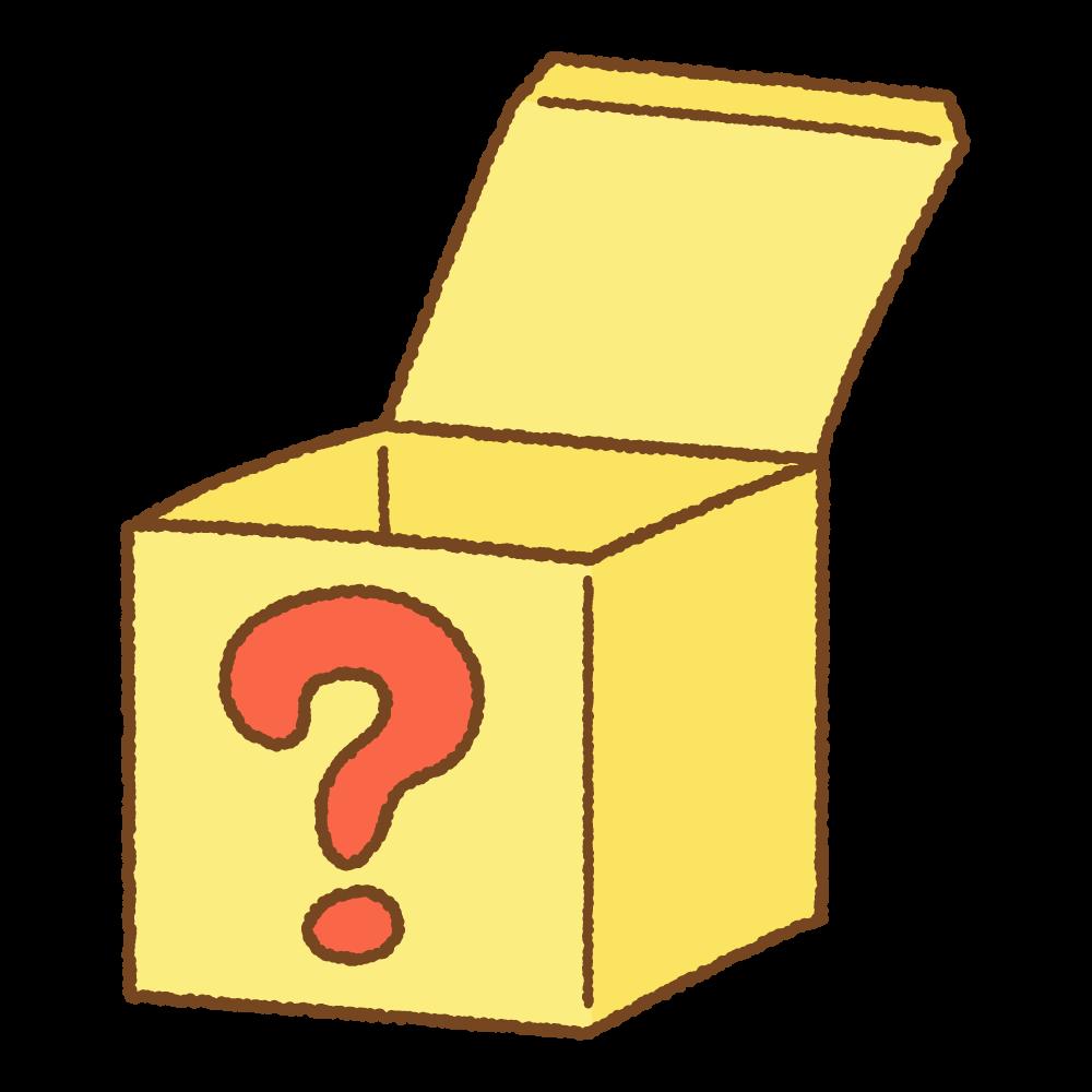 はてなの箱のフリーイラスト Clip art of question box