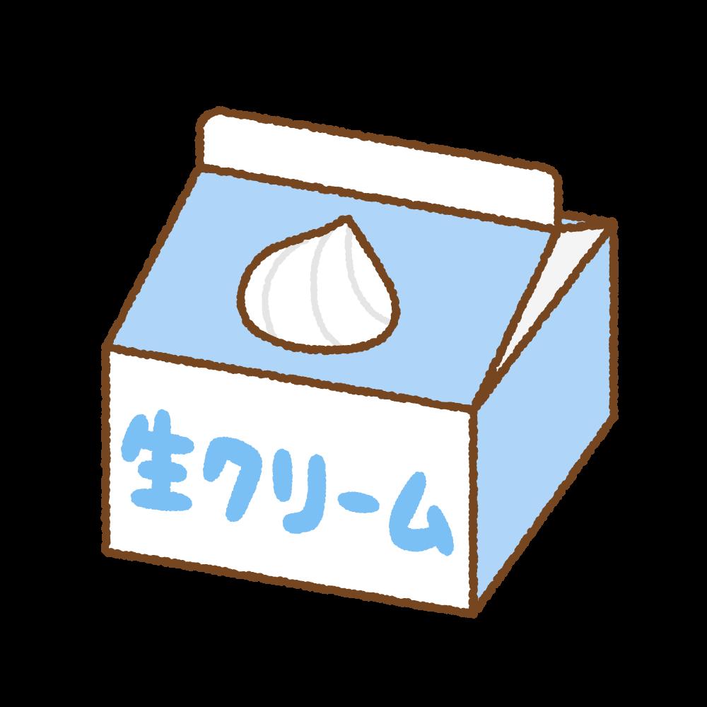 生クリームのフリーイラスト Clip art of heavy cream