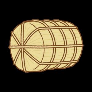 米俵のフリーイラスト Clip art of komedawara