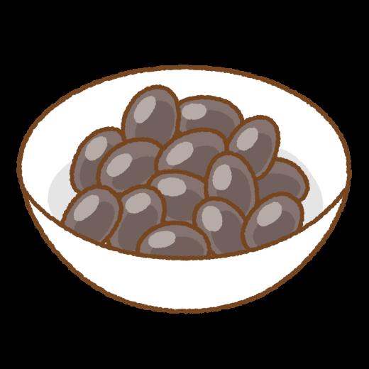 黒豆煮のイラスト
