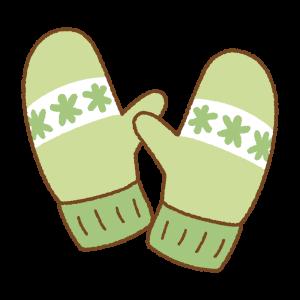 ミトン手袋のフリーイラスト Clip art of mittens