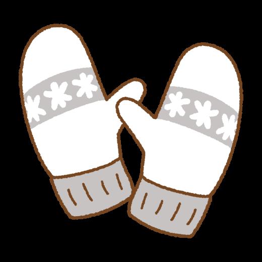 ミトンの手袋のイラスト