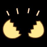割れたタマゴのフリーイラスト Clip art of open egg