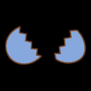 青いタマゴのフリーイラスト Clip art of blue egg open