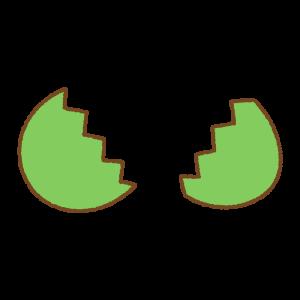 緑のタマゴのフリーイラスト Clip art of green egg open