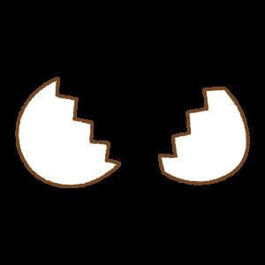 白いタマゴのフリーイラスト Clip art of white egg open