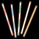 紙ストローのフリーイラスト Clip art of paper straw