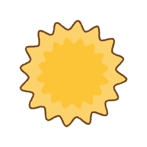 花粉のフリーイラスト Clip art of pollen