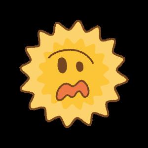 慌てる花粉のキャラクターのフリーイラスト Clip art of panic pollen