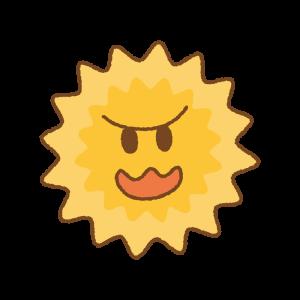 花粉のキャラクターのイラスト Clip art of smile pollen
