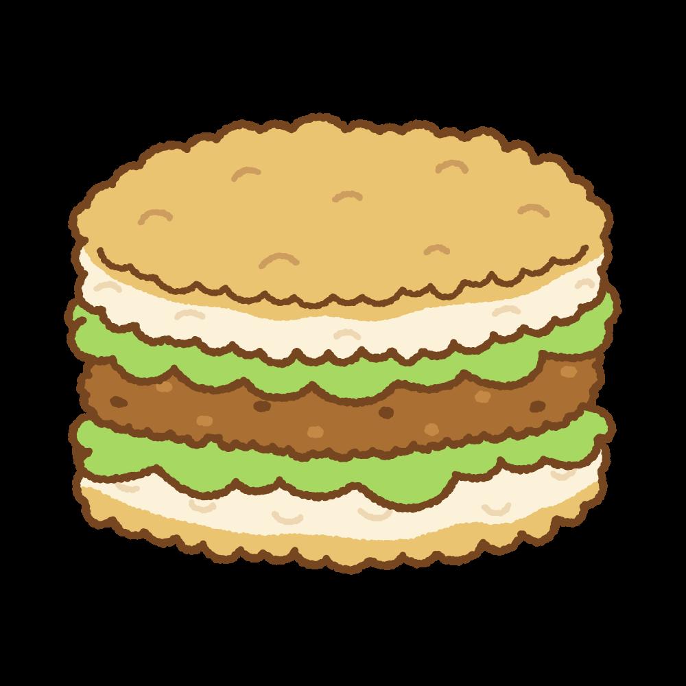 ライスバーガーのフリーイラスト Clip art of rice-burger