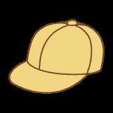 黄色い通学帽のフリーイラスト(キャップ) Clip art of school cap