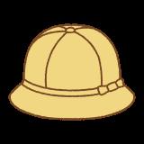 黄色い通学帽のイラスト(ハット)