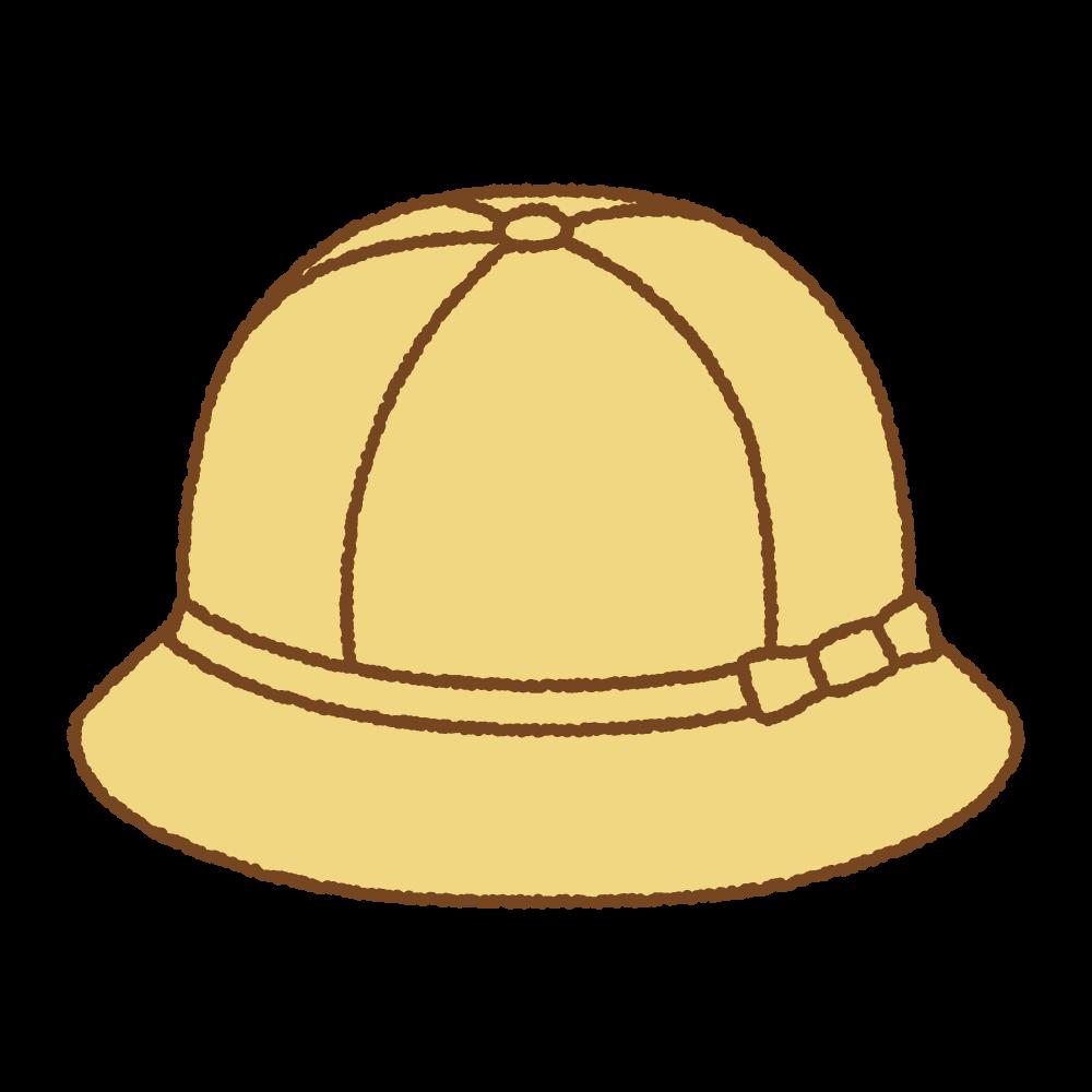 黄色い通学帽のフリーイラスト Clip art of shcool hat