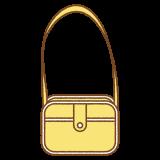 通園カバンのフリーイラスト Clip art of school yellow bag