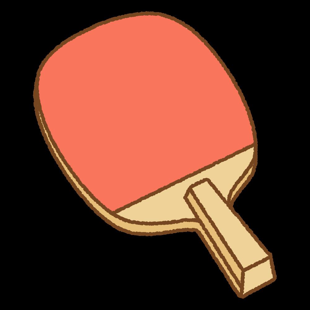 卓球のペンラケットのフリーイラスト Clip art of tabletennis-racket-penhold
