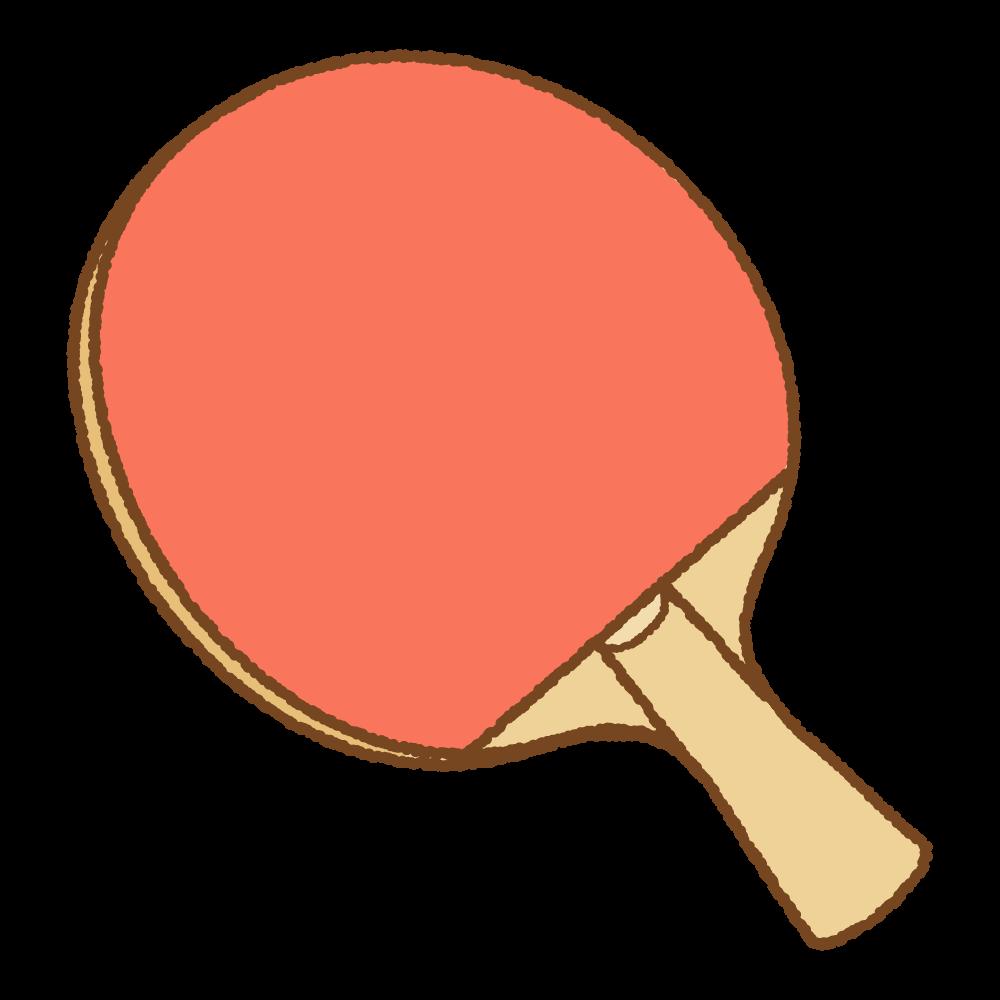 卓球のシェークハンドラケットのイラスト Clip art of tabletennis shakehand racket