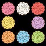 お花紙のフリーイラスト Clip art of tissue paper flower