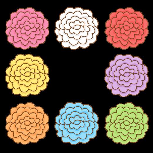 お花紙のイラスト