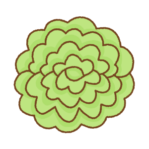 緑のお花紙のフリーイラスト Clip art of green tissue paper flower