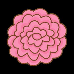 ピンクのお花紙のフリーイラスト Clip art of pink tissue paper flower