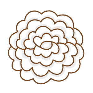 白いお花紙のフリーイラスト Clip art of white tissue paper flower