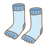 五本指ソックスのフリーイラスト Clip art of toe socks