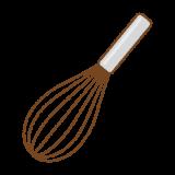 泡立器のフリーイラスト Clip art of whisk