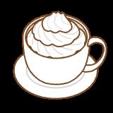 ウィンナコーヒーのフリーイラスト Clip art of wiener coffee