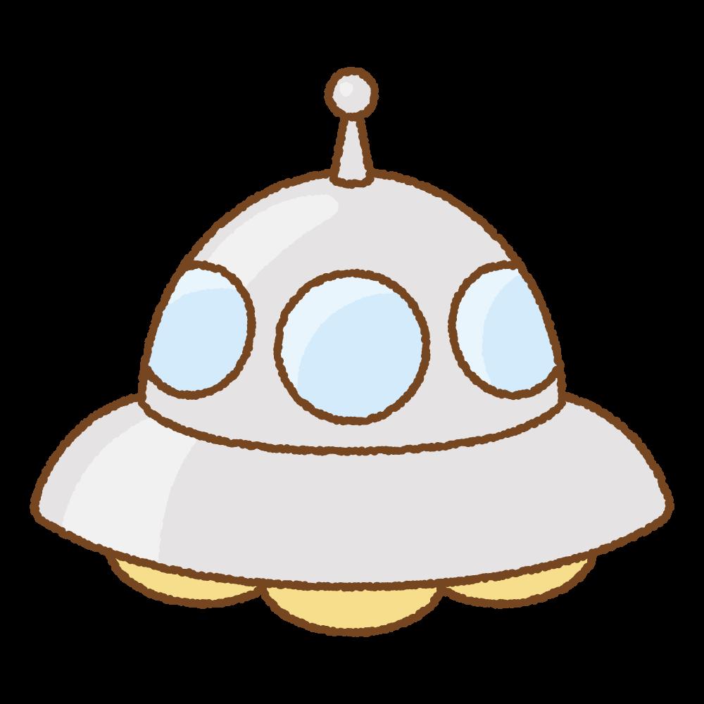 UFOのフリーイラスト Clip art of UFO