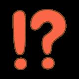 びっくりはてなのフリーイラスト Clip art of exclamation question mark