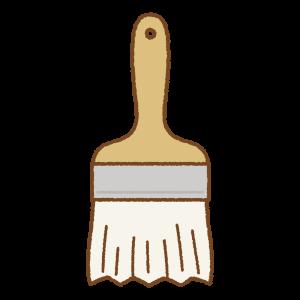 ペンキ刷毛のフリーイラスト Clip art of paint brush