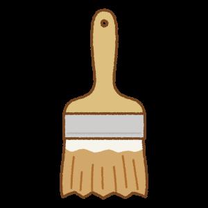 茶色のペンキ刷毛のフリーイラスト Clip art of brown paint brush