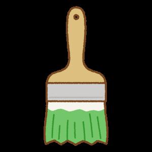 緑のペンキ刷毛のフリーイラスト Clip art of green paint brush