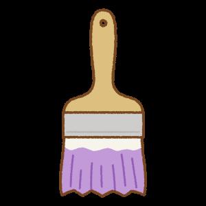 紫のペンキ刷毛のフリーイラスト Clip art of purple paint brush