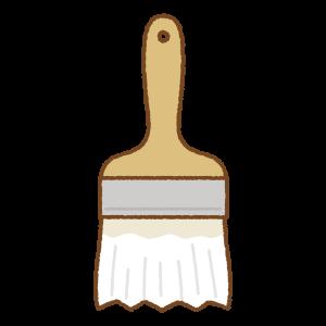 白いペンキ刷毛のフリーイラスト Clip art of white paint brush