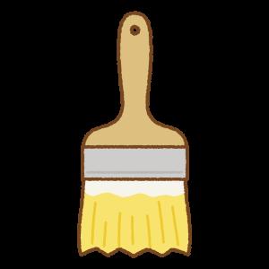 黄色いペンキ刷毛のフリーイラスト Clip art of yellow paint brush