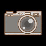 カメラのフリーイラスト Clip art of damera