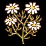 カモミールのフリーイラスト Clip art of chamomile