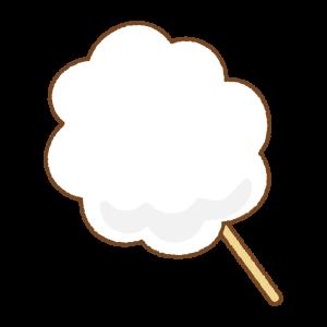 白いわたあめのフリーイラスト Clip art of cotton candy