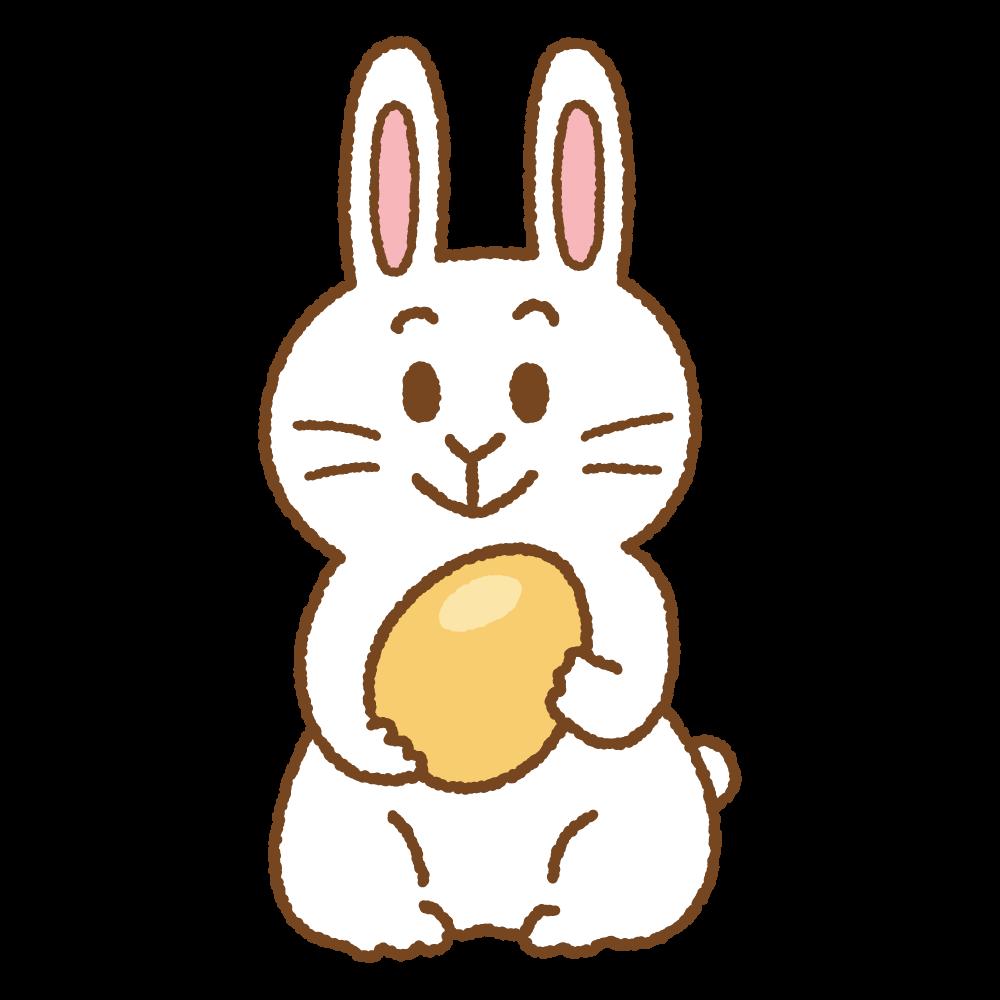 イースターバニーのフリーイラスト Clip art of easter bunny