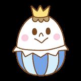 イースターエッグの王子様のイラスト