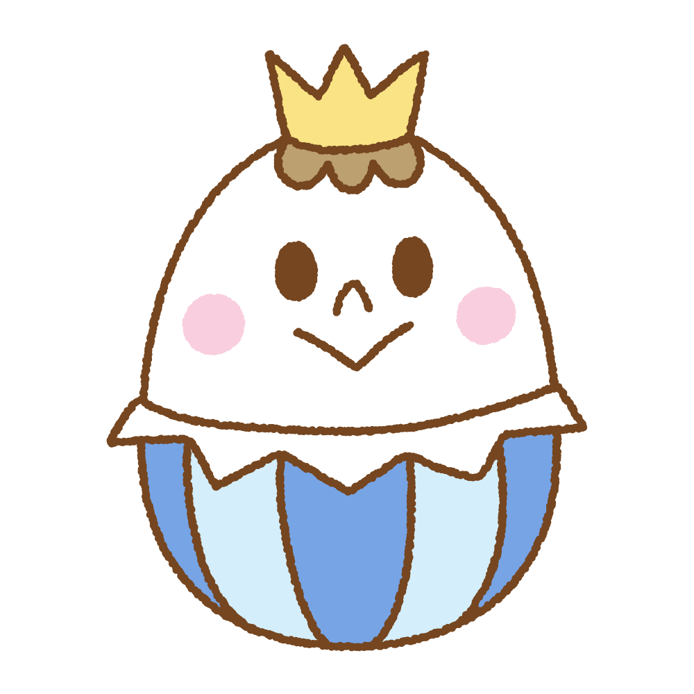 王子様イースターエッグのフリーイラスト Clip art of easter egg prince